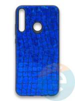 Накладка силиконовая Fantastic Skin блестящая для Huawei Y7P/P40 Lite E 2020 синяя