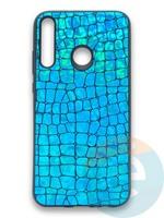 Накладка силиконовая Fantastic Skin блестящая для Huawei Y7P/P40 Lite E 2020 бирюзовая