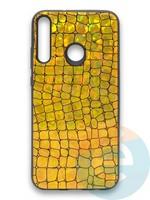 Накладка силиконовая Fantastic Skin блестящая для Huawei Y7P/P40 Lite E 2020 золотистая