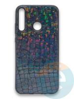 Накладка силиконовая Fantastic Skin блестящая для Huawei Y7P/P40 Lite E 2020 черная