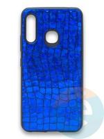 Накладка силиконовая Fantastic Skin блестящая для Samsung Galaxy A70E синяя