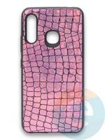 Накладка силиконовая Fantastic Skin блестящая для Samsung Galaxy A70E розовая