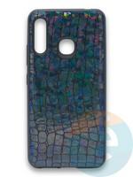 Накладка силиконовая Fantastic Skin блестящая для Samsung Galaxy A70E черная