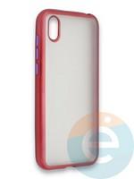 Накладка силиконовая матовая с перламутровой окантовкой для Huawei Y5 2019/8S красная
