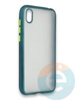 Накладка силиконовая матовая с перламутровой окантовкой для Huawei Y5 2019/8S зеленая