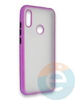 Накладка силиконовая матовая с перламутровой окантовкой для Huawei Y6 2019/Honor 8A фиолетовая
