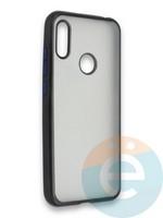 Накладка силиконовая матовая с перламутровой окантовкой для Huawei Y6 2019/Honor 8A черная