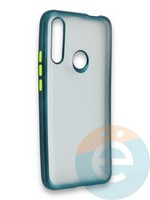 Накладка силиконовая матовая с перламутровой окантовкой для Huawei P Smart Z/Y9 Prime зеленая