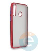 Накладка силиконовая матовая с перламутровой окантовкой для Huawei Y7P/P40 Lite E 2020 красная