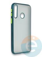 Накладка силиконовая матовая с перламутровой окантовкой для Huawei Y7P/P40 Lite E 2020 зеленая