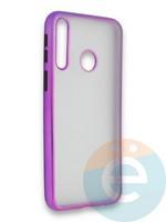 Накладка силиконовая матовая с перламутровой окантовкой для Huawei Y7P/P40 Lite E 2020 фиолетовая