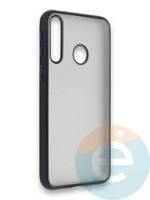 Накладка силиконовая матовая с перламутровой окантовкой для Huawei Y7P/P40 Lite E 2020 черная
