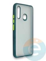Накладка силиконовая матовая с перламутровой окантовкой для Samsung Galaxy A70E зеленая