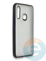 Накладка силиконовая матовая с перламутровой окантовкой для Samsung Galaxy A70E синяя
