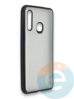 Накладка силиконовая матовая с перламутровой окантовкой для Samsung Galaxy A70E черная