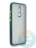 Накладка силиконовая матовая с перламутровой окантовкой для Xiaomi Redmi 8 зеленая