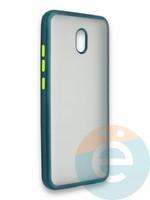 Накладка силиконовая матовая с перламутровой окантовкой для Xiaomi Redmi 8A зеленая