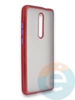 Накладка силиконовая матовая с перламутровой окантовкой для Xiaomi Mi 9T/Mi 9T Pro/K20/K20 Pro красная