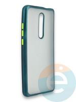 Накладка силиконовая матовая с перламутровой окантовкой для Xiaomi Mi 9T/Mi 9T Pro/K20/K20 Pro зеленая