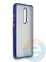 Накладка силиконовая матовая с перламутровой окантовкой для Xiaomi Mi 9T/Mi 9T Pro/K20/K20 Pro синяя