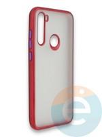 Накладка силиконовая матовая с перламутровой окантовкой для Xiaomi Redmi Note 8T красная