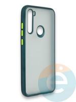 Накладка силиконовая матовая с перламутровой окантовкой для Xiaomi Redmi Note 8T зеленая