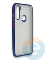 Накладка силиконовая матовая с перламутровой окантовкой для Xiaomi Redmi Note 8T синяя