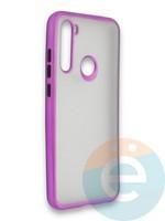 Накладка силиконовая матовая с перламутровой окантовкой для Xiaomi Redmi Note 8T фиолетовая
