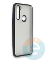 Накладка силиконовая матовая с перламутровой окантовкой для Xiaomi Redmi Note 8T черная