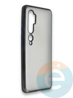 Накладка силиконовая матовая с перламутровой окантовкой для Xiaomi Mi Note 10 черная
