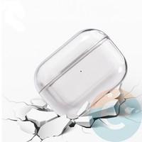 Чехол пластиковый для наушников Apple airPods Pro прозрачный