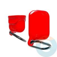 Чехол силиконовый воданепроницаемый Waterproof Hang Case для Apple AirPods 1/2 красный