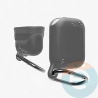 Чехол силиконовый воданепроницаемый Waterproof Hang Case для Apple AirPods 1/2 серый