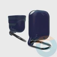 Чехол силиконовый воданепроницаемый Waterproof Hang Case для Apple AirPods 1/2 синий