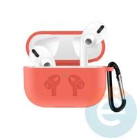 Чехол силиконовый для наушников Apple airPods Pro с логотипом Peach