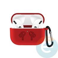 Чехол силиконовый для наушников Apple airPods Pro с логотипом Red