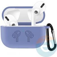 Чехол силиконовый для наушников Apple airPods Pro с логотипом Purple