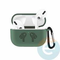 Чехол силиконовый для наушников Apple airPods Pro с логотипом Midnight Green