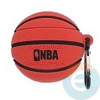 Чехол силиконовый объемный на Apple AirPods 1/2 баскетбольный мяч