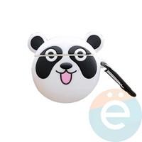 Чехол силиконовый объемный на Apple AirPods 1/2 панда