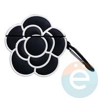Чехол силиконовый объемный на Apple AirPods 1/2 цветок