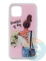 Накладка силиконовая Girl Style для Apple Iphone 11 Pro Beautiful Day