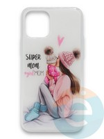 Накладка силиконовая Girl Style для Apple Iphone 11 Pro Super Mom