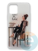 Накладка силиконовая Girl Style для Apple Iphone 11 Pro All Booked