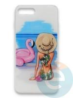 Накладка силиконовая Girl Style для Apple Iphone 7/8/SE2 Beach
