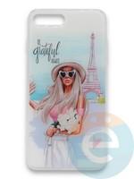 Накладка силиконовая Girl Style для Apple Iphone 7/8/SE2 Paris