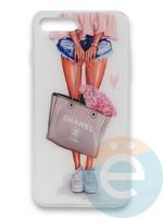 Накладка силиконовая Girl Style для Apple Iphone 7/8/SE2 Flowers