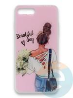 Накладка силиконовая Girl Style для Apple Iphone 7/8/SE2 Beautiful Day