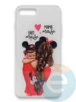 Накладка силиконовая Girl Style для Apple Iphone 7/8/SE2 Baby Mama