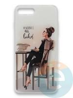 Накладка силиконовая Girl Style для Apple Iphone 7/8/SE2 All Booked